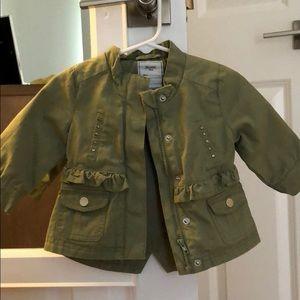 Mayoral Girl Green KHAKI Jacket and Shorts